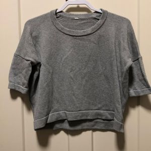 Lululemon Gray Bhakti Reality Womens Cropped Top